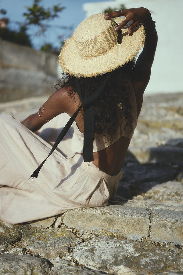Pamela, Handmade Straw Hat - Sustainable Clothing Fashion Brand Label POETHICA®