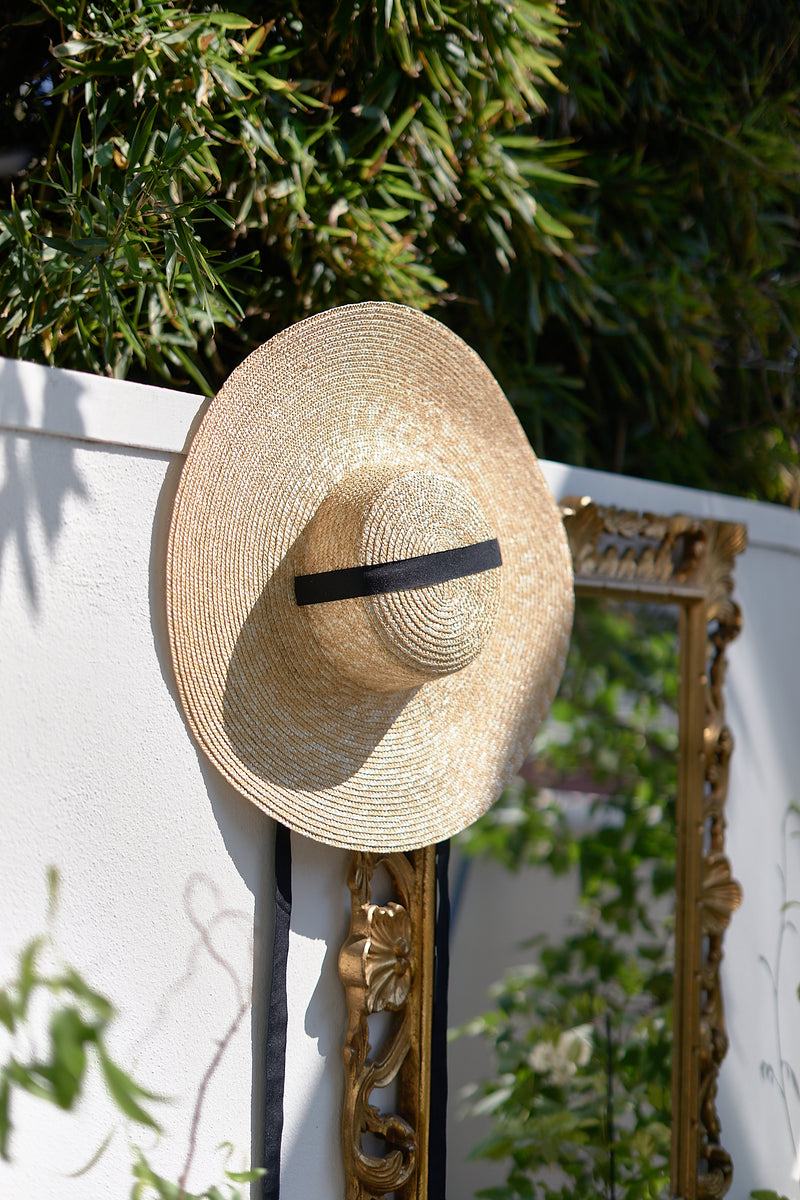 Catherine, Handmade Large Straw Hat - Beige - Sustainable Clothing Fashion Brand Label POETHICA®