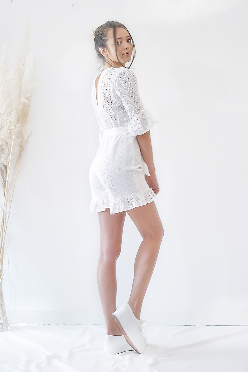 Organic Broderie - Playsuit Kimono - Sustainable Clothing Fashion Brand Label POETHICA®