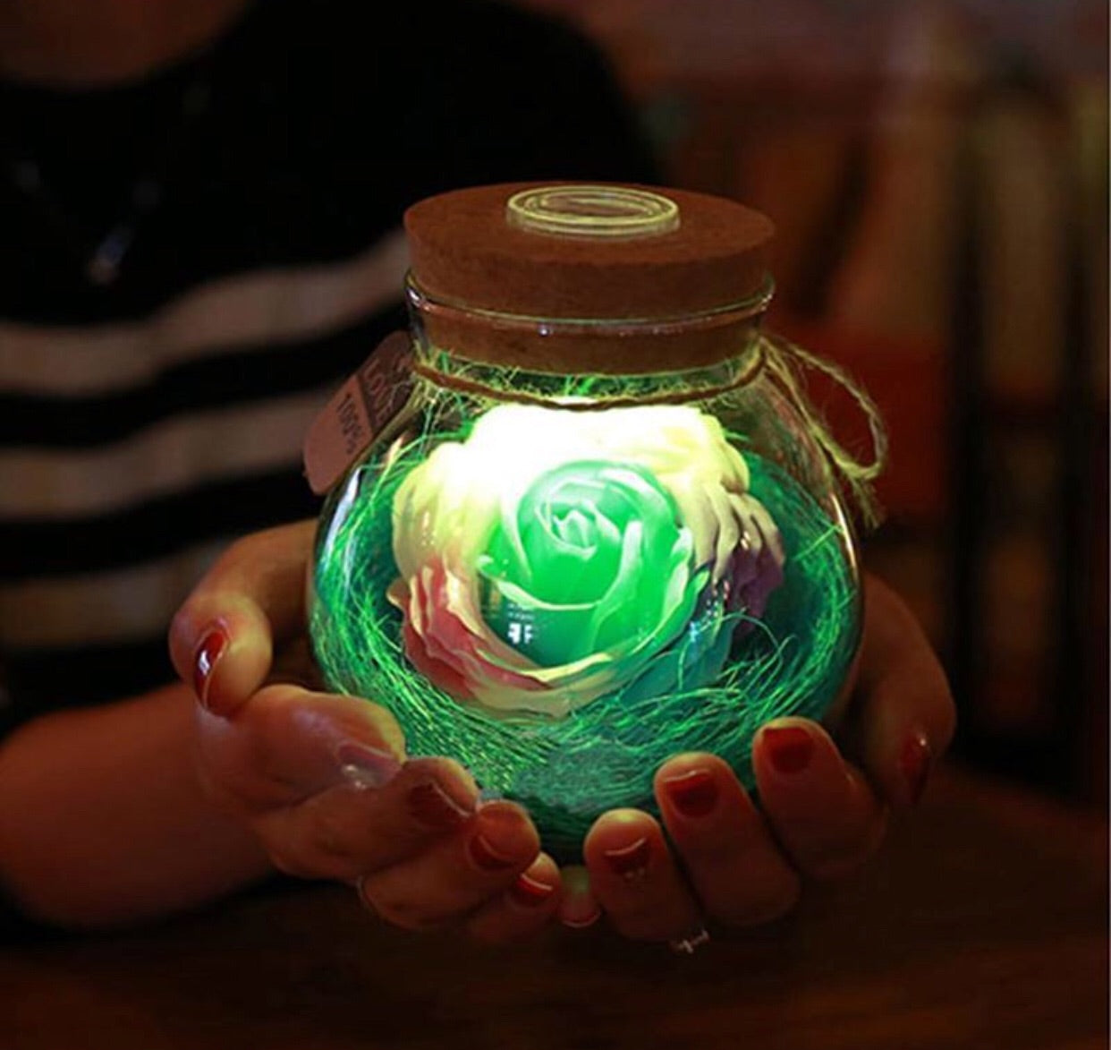 Mini LED Rose Bloom Lamp