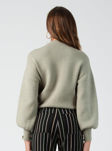 Madison Moss Mock Neck Sweater