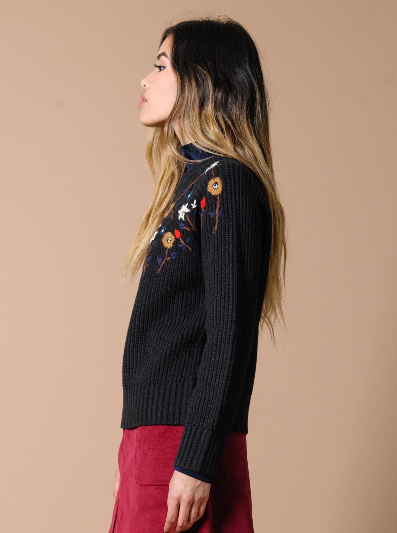 Carmichael Floral Embroidered Sweater