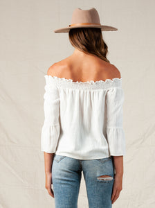 Penza Off Shoulder Poet Sleeve Top