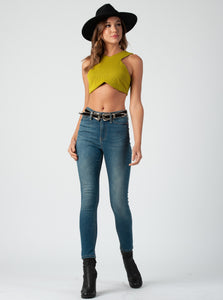 Claire Chartruse Crop Top