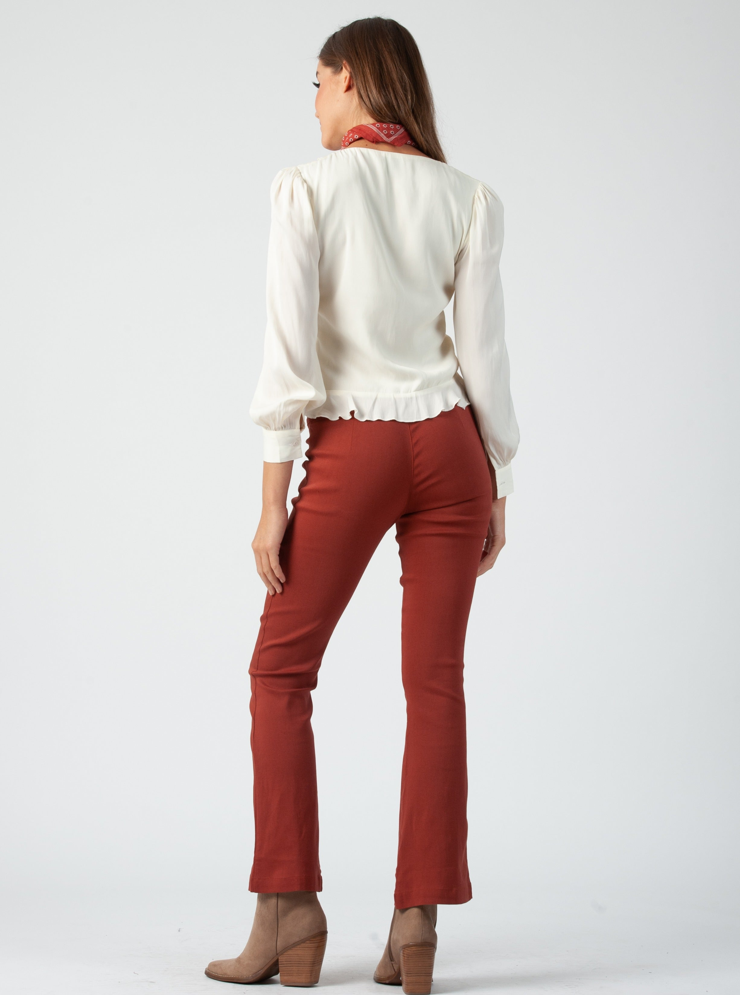 Beals Ivory Ruched Blouse