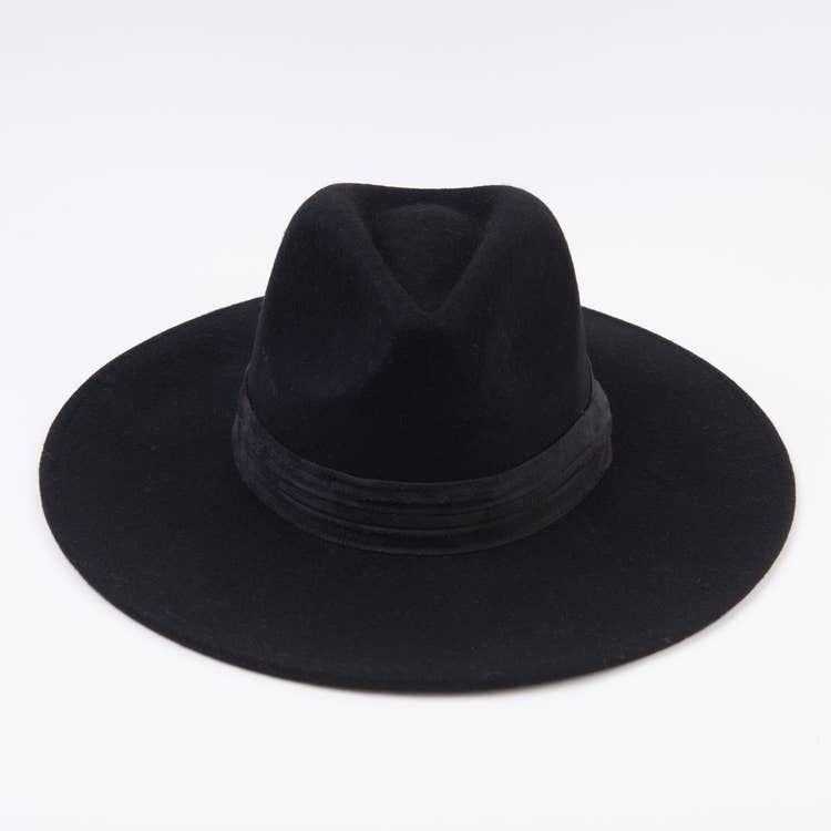 WILDFLOWER BLACK FEDORA