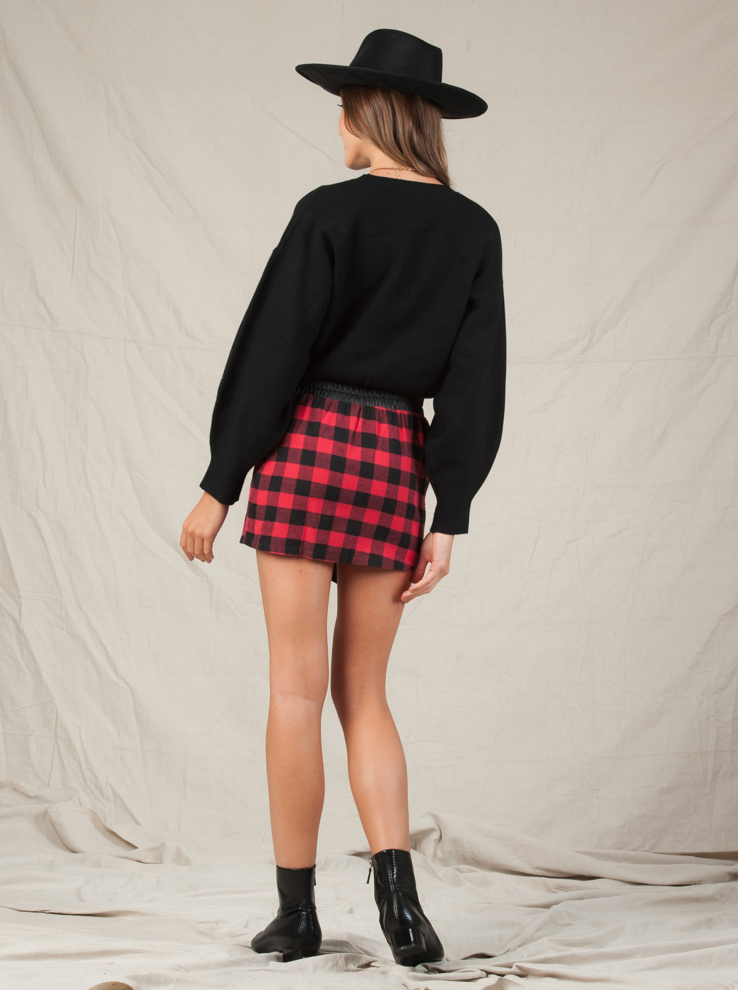 BUFFY SKIRT BUFFALO PLAID