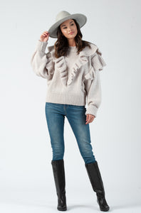CONNIE RUFFLE SWEATER