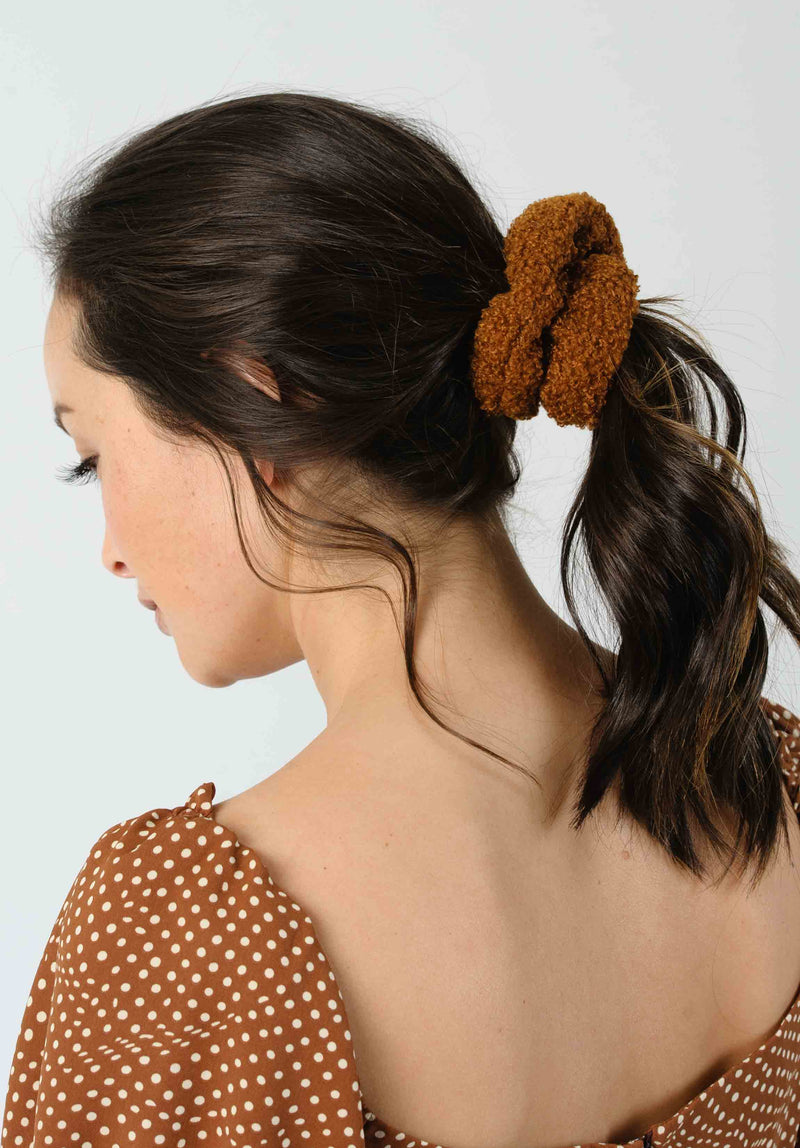 SHERPA SCRUNCHIE SET | IVORY/MAUVE/RUST