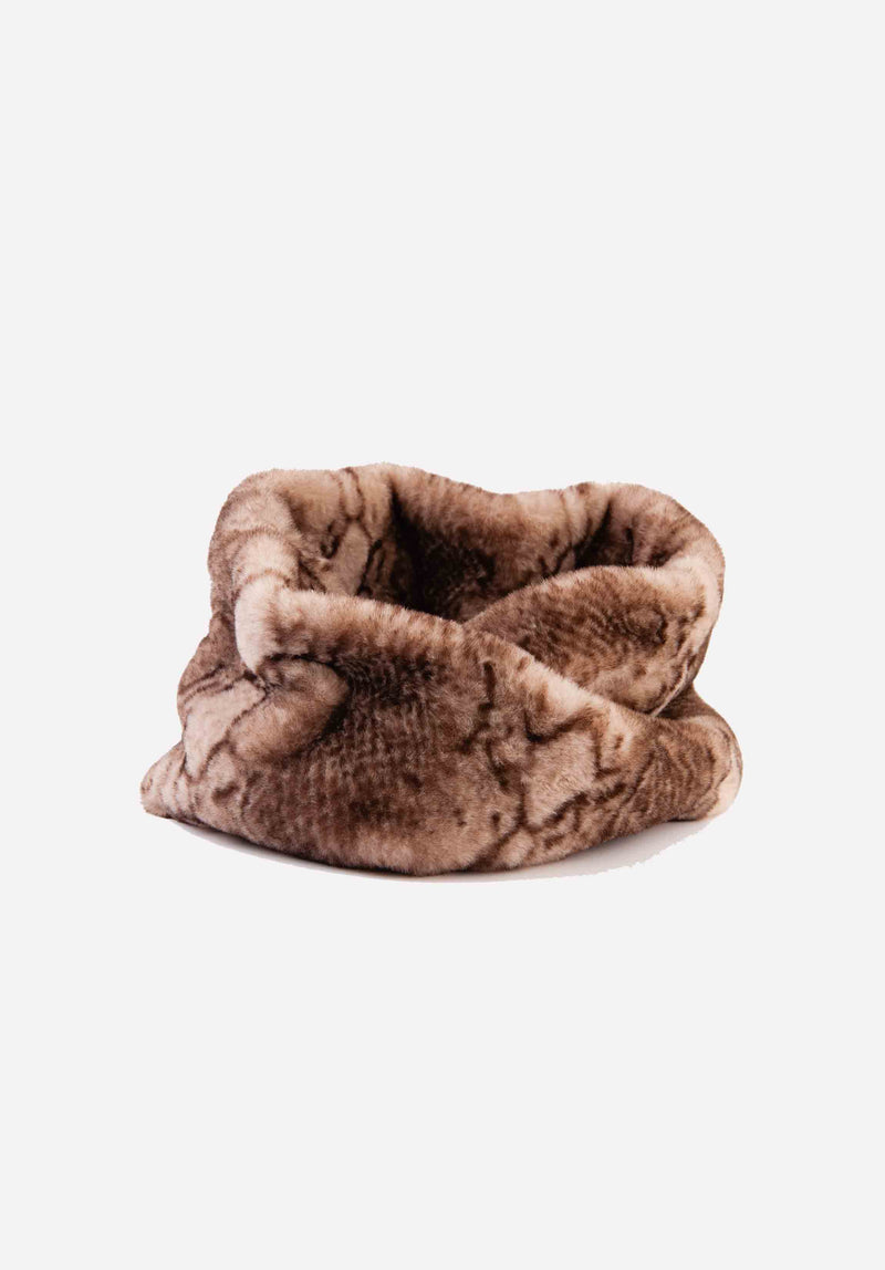 FAUX FUR CIRCLE SCARF | SNAKE