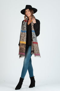 SAFARI ANIMAL PRINT SCARF