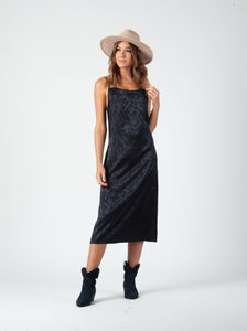 ROBIN BIAS CUT MIDI DRESS | NAVY