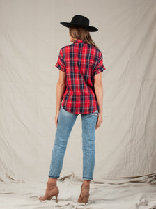 BILLY RED PLAID TOP