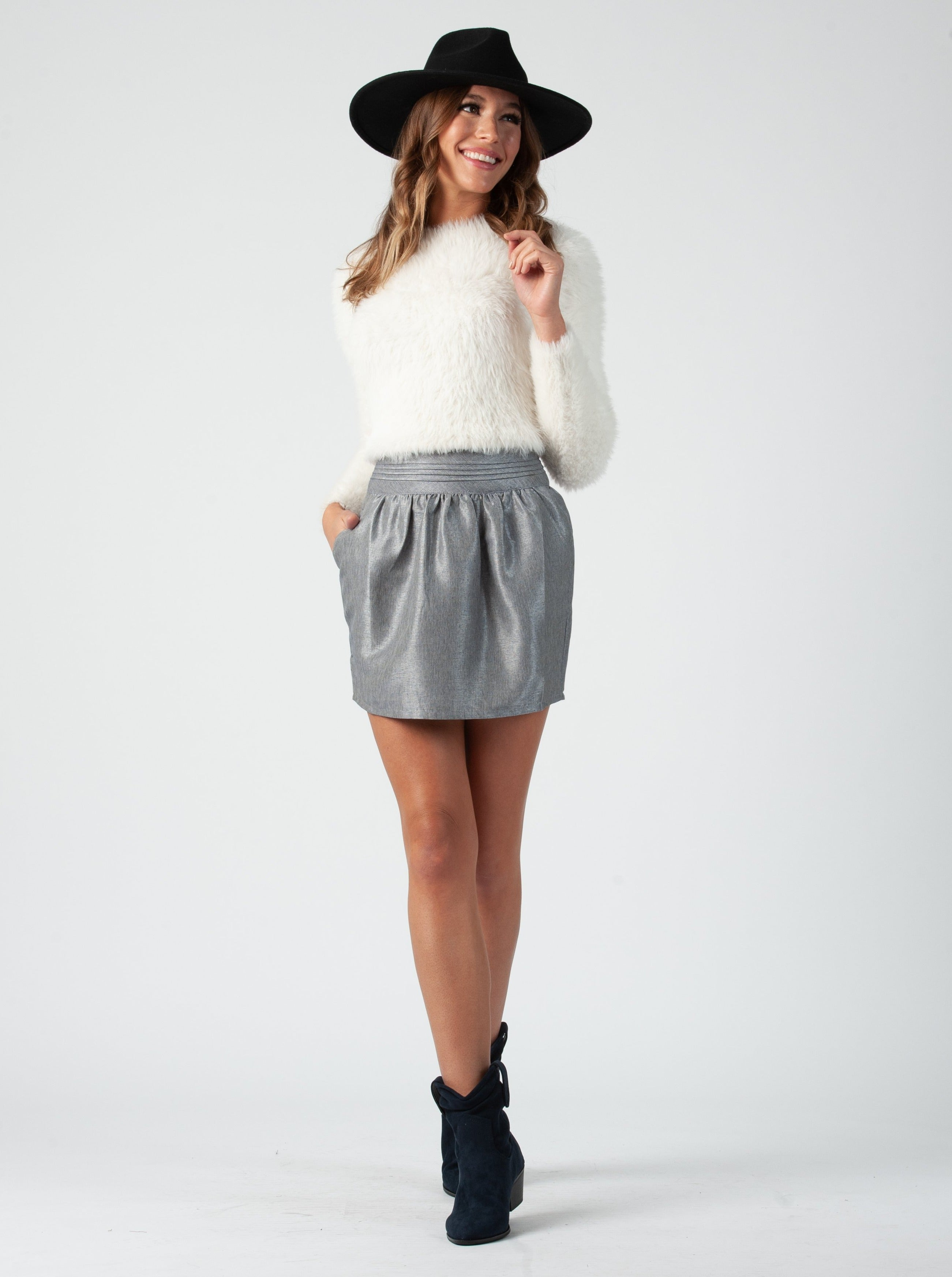 VIOLA GREYBLUE LAMP SHADE SKIRT