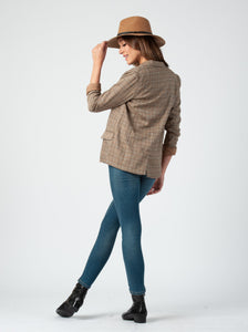 BLAKE BLAZER JACKET | BROWN PLAID