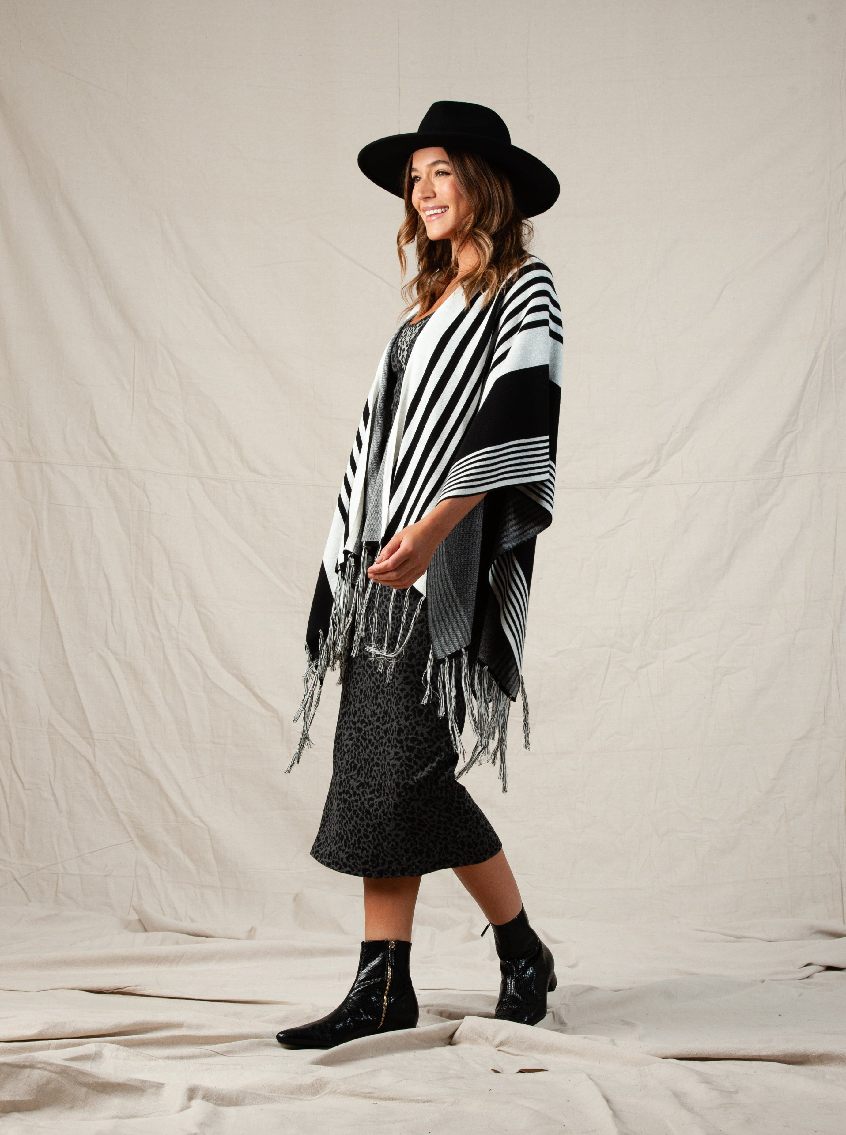 Ashly Poncho Sweater