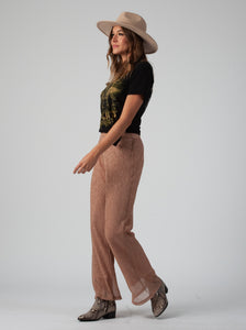 SYCAMORE BOOT CUT PANT | ROSE GOLD