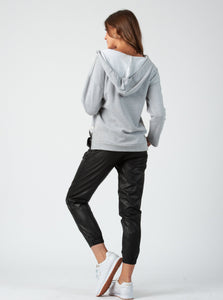 Russel Black Vegan Leather Jogger