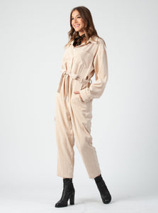 PINOTAGE CORDUROY JUMPSUIT | BARELY BEIGE