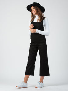 BRIANA FITTED OVERALL JUMPSUIT | BLACK