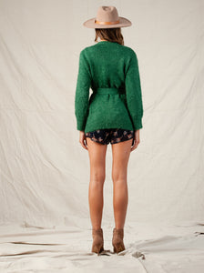 OLIVER CARDIGAN W/ POCKETS | FOREST GREEN