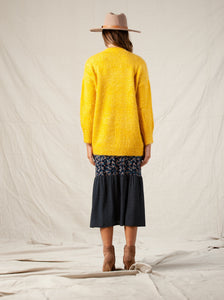 OLIVER CARDIGAN W/ POCKETS | MUSTARD YELLOW