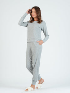 Cookie GREY POINTELLE Jogger Set