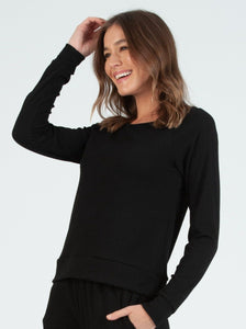 EDEN BLACK POINTELLE TOP