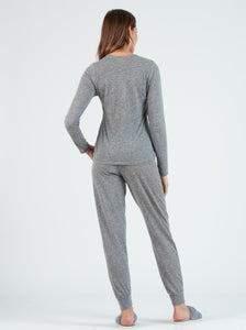 OLEA Grey Mock Twist Set