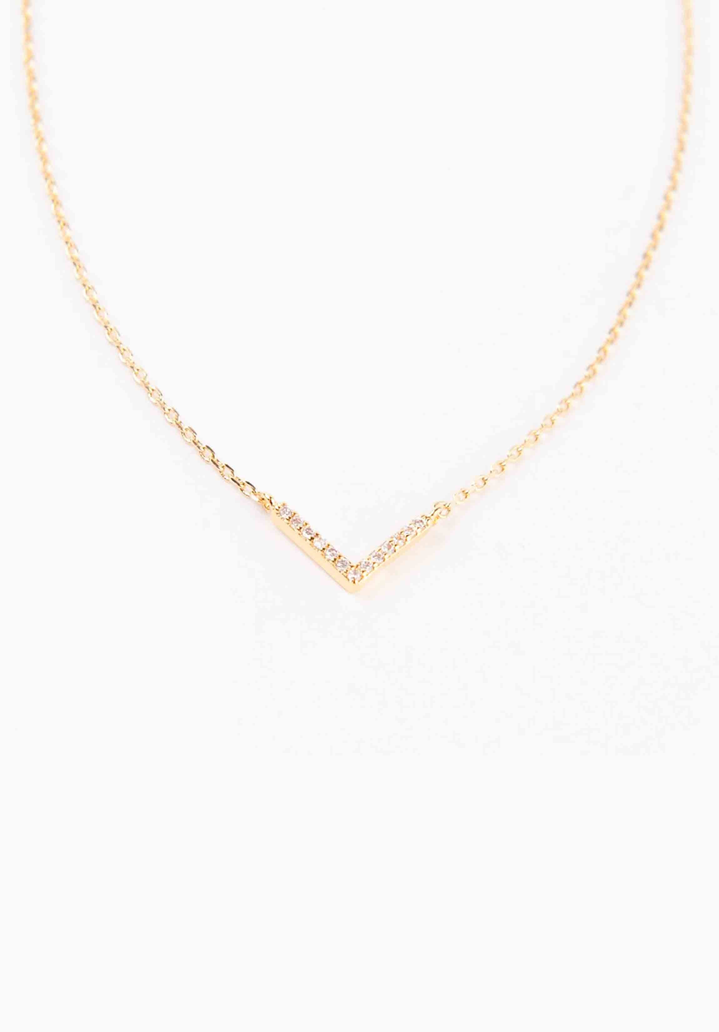 DEEP V NECKLACE | GOLD