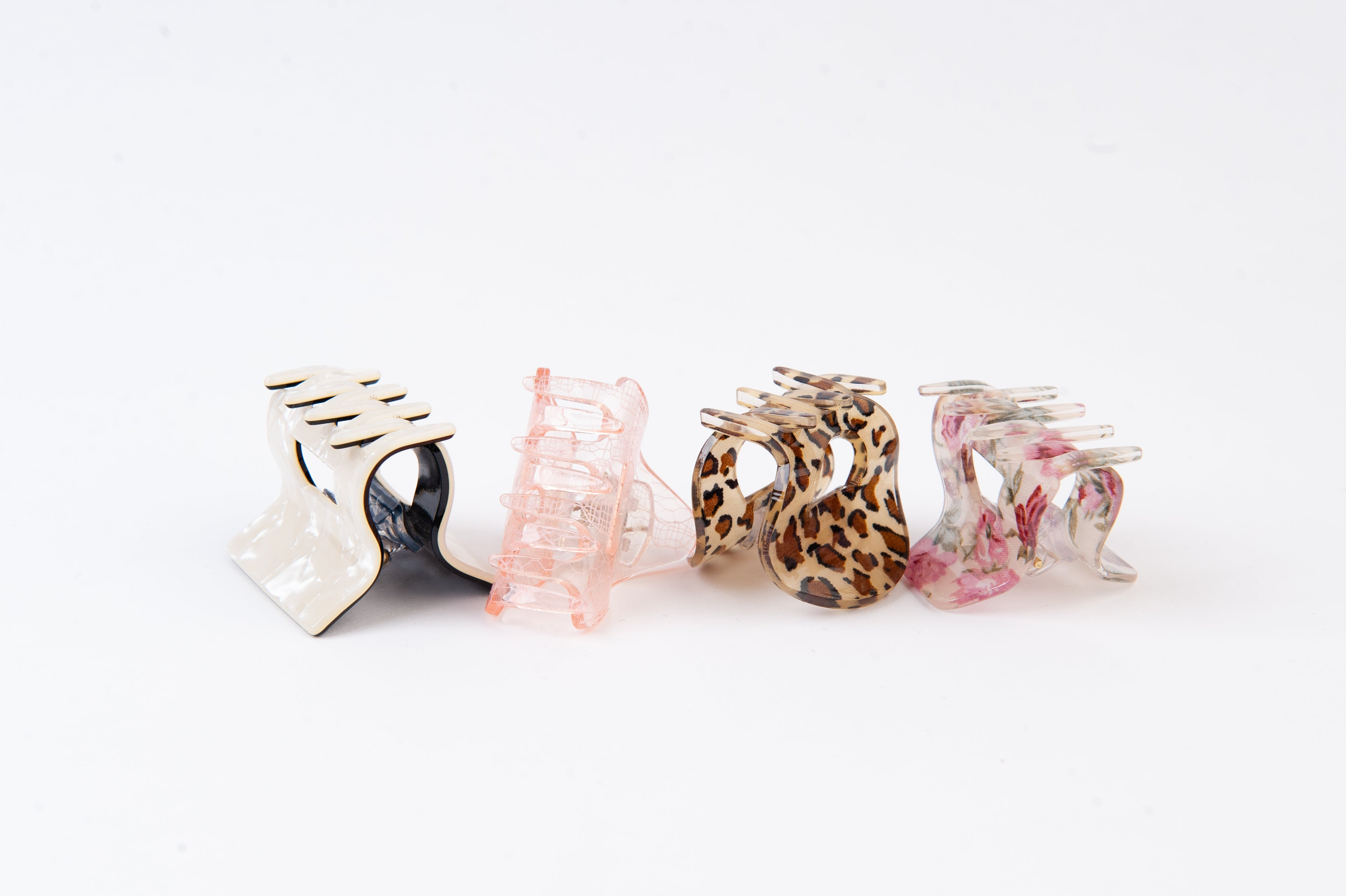 LUCCA 4 PC HAIR CLIP SET