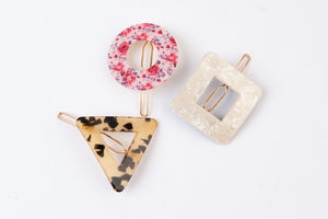 LUCCA 3 PC HAIR CLIP SET