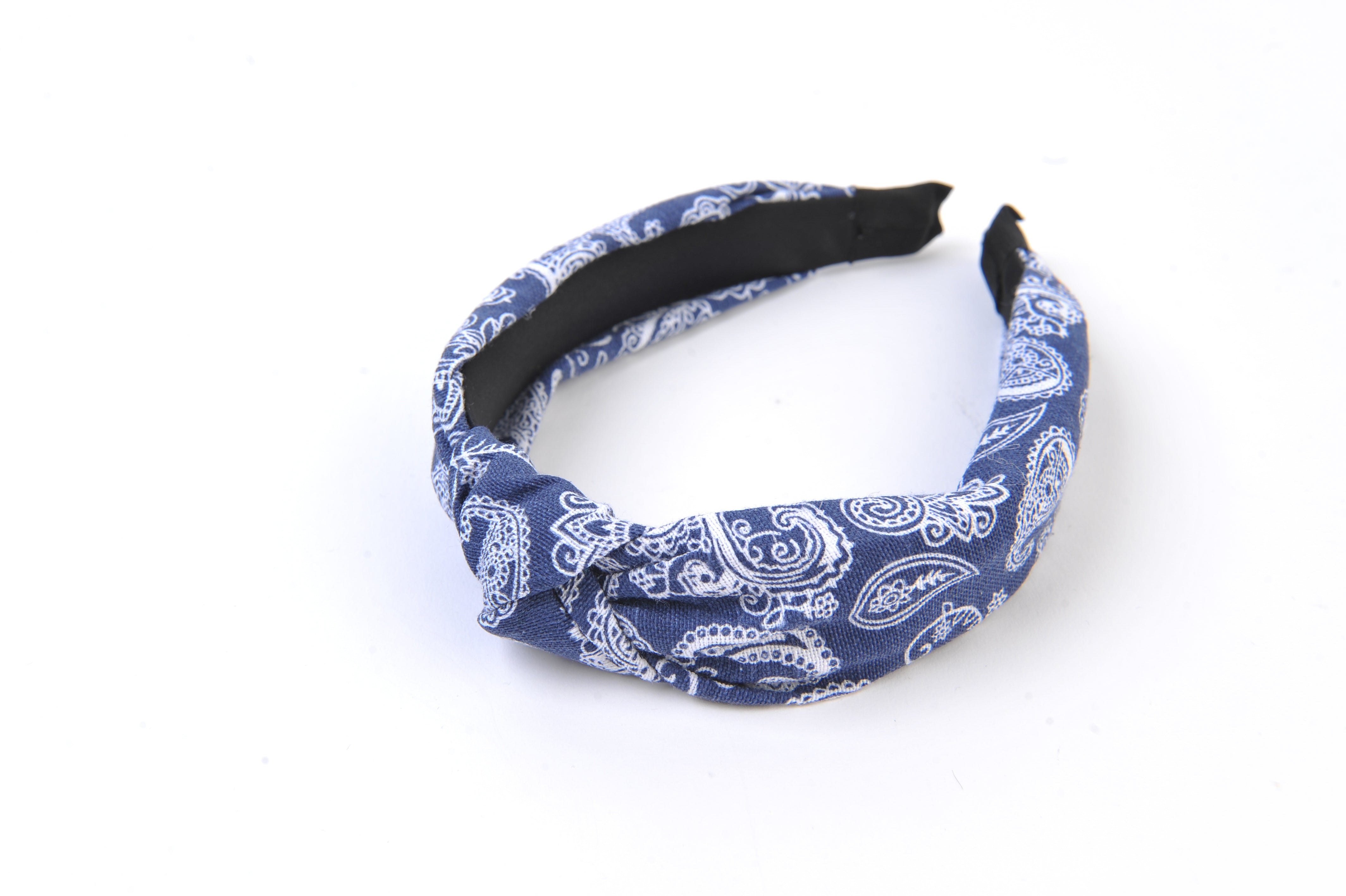 BANDANA PRINT DENIM HEADBAND