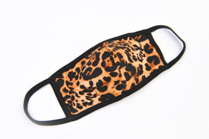 Brown Leopard Cloth Mask