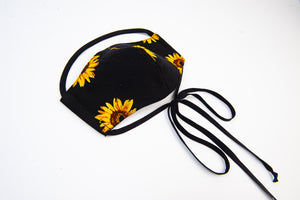 Woven printed adjustable facial mask