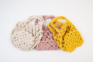 MARINA BLUSH MINI CROCHET PURSE