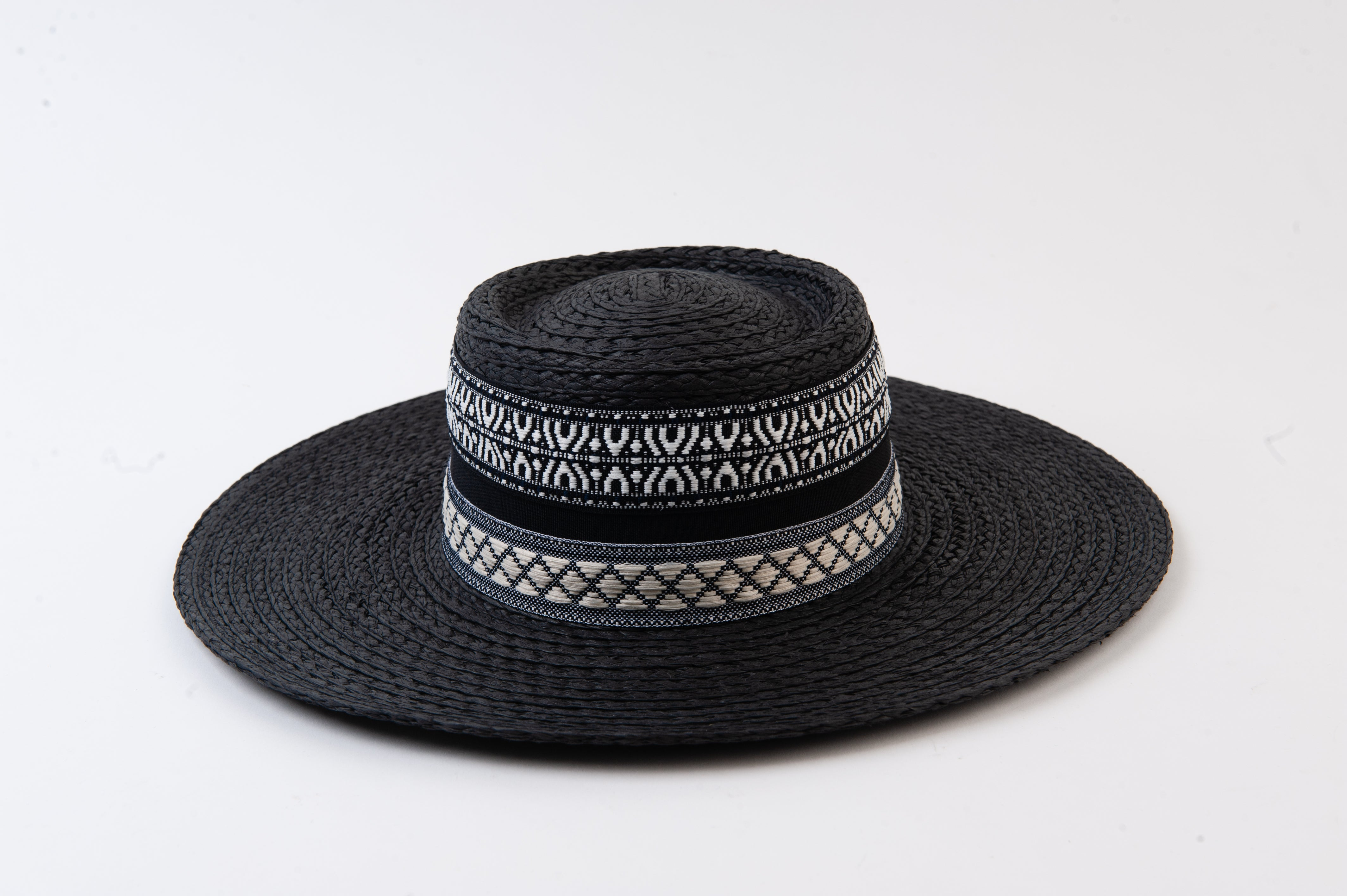 Loretto Straw Boater With Trim