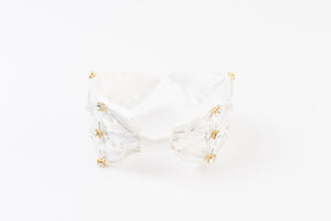 ICY BEADED BEADED HEADBAND | SNOW