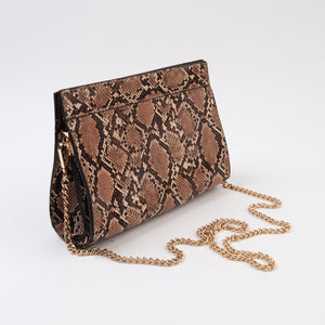 SLITH SNAKE CLUTCH | TAUPE