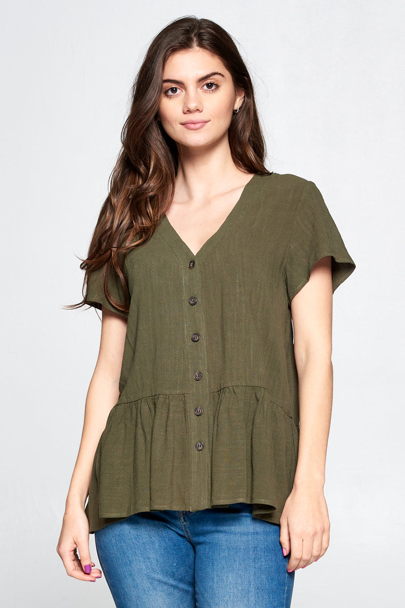 AYLIN MOCK NECK TUNIC | RIVER TRAIL