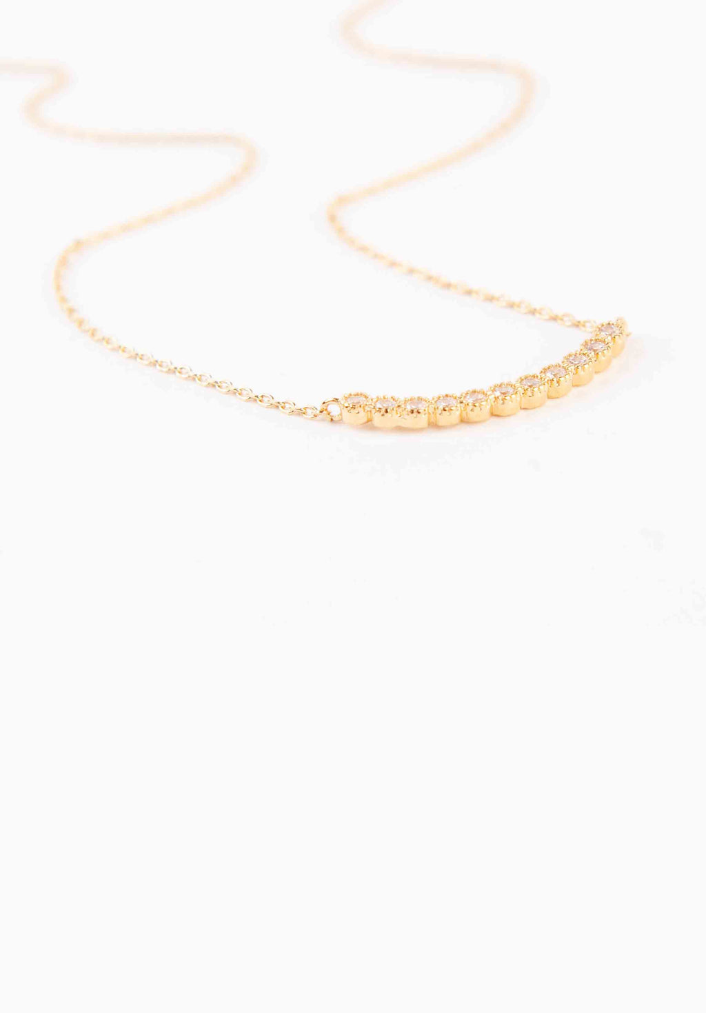 CRYSTAL NECKLACE | GOLD