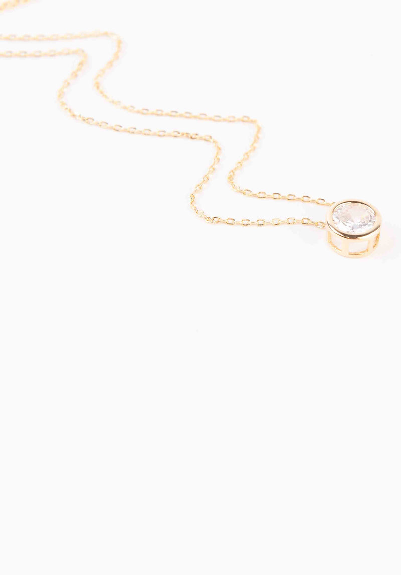 STONE NECKLACE | GOLD