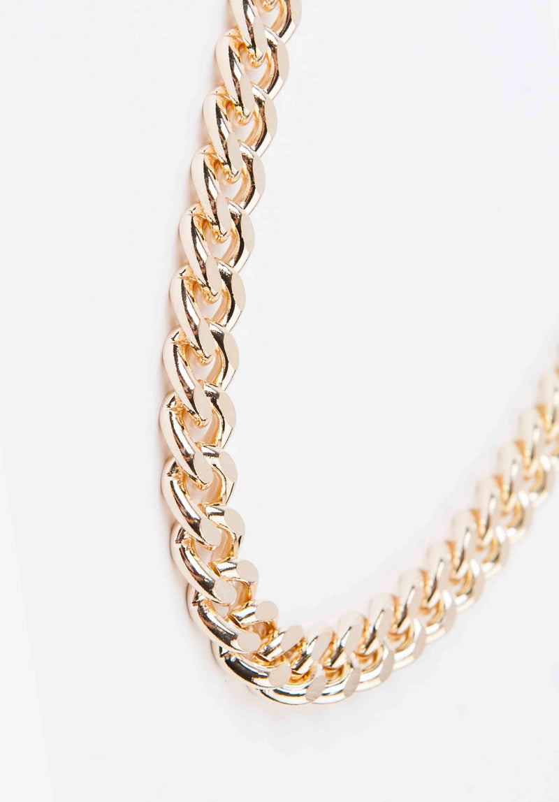 CHUNKY CHAIN NECKLACE | GOLD