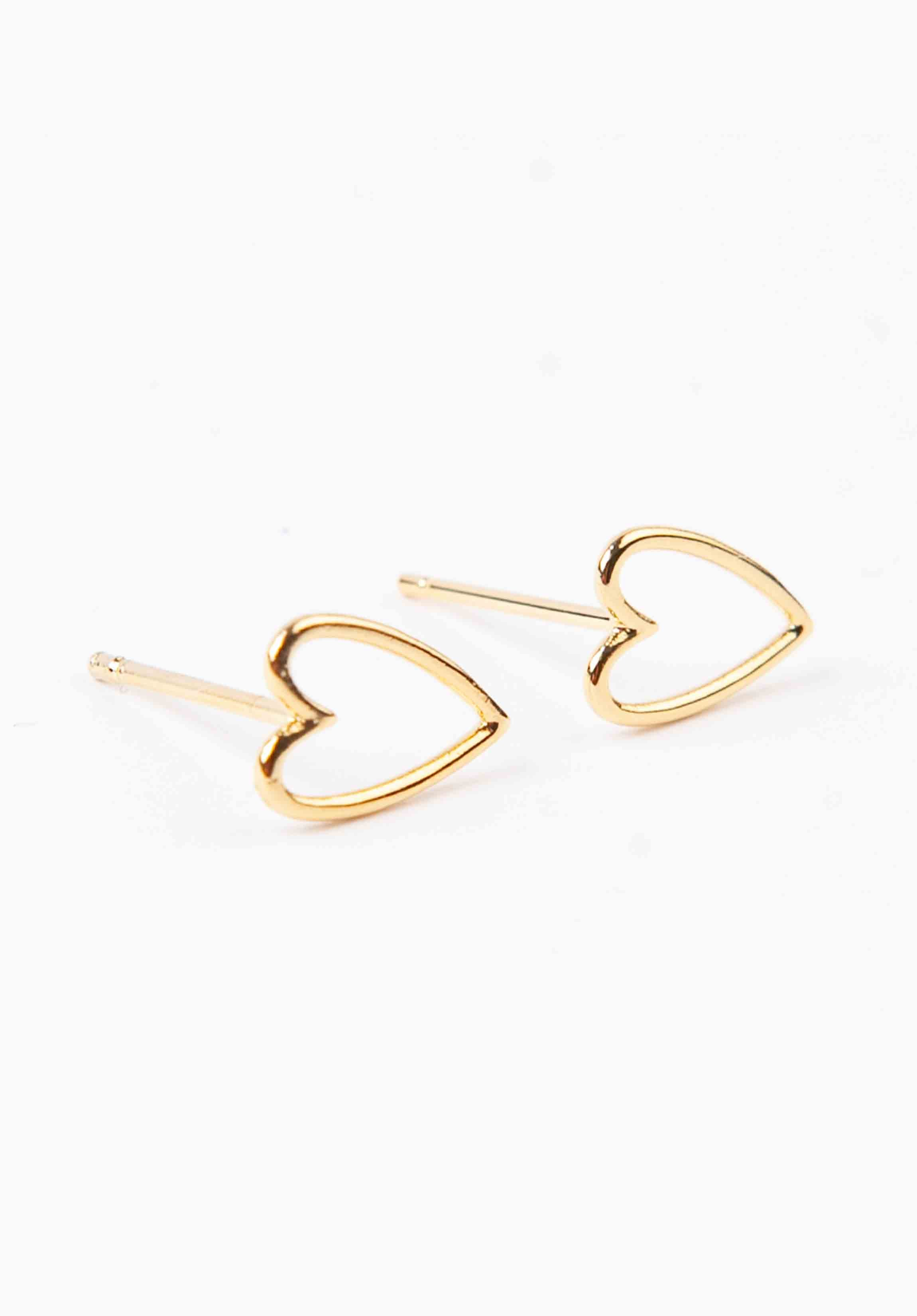 HEART OUTLINE EARRINGS | GOLD