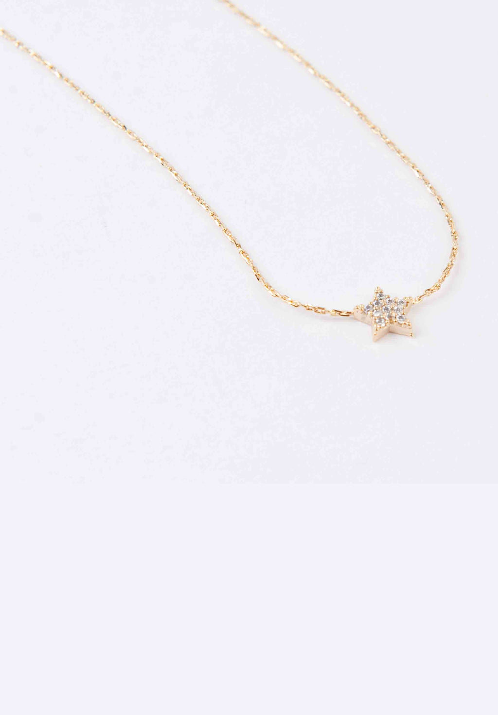 STUDDED STAR NECKLACE | GOLD