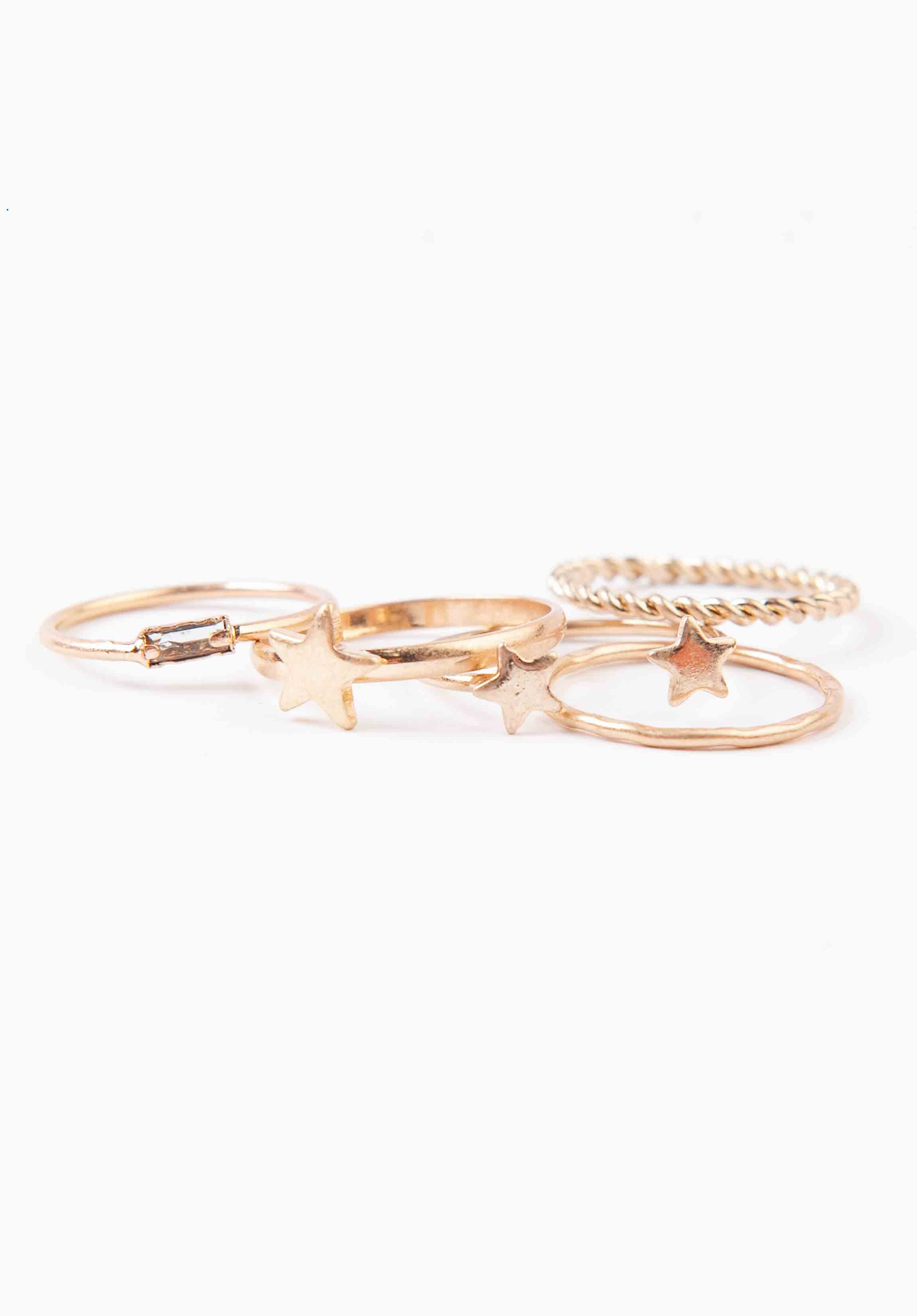 STAR RING SET | GOLD