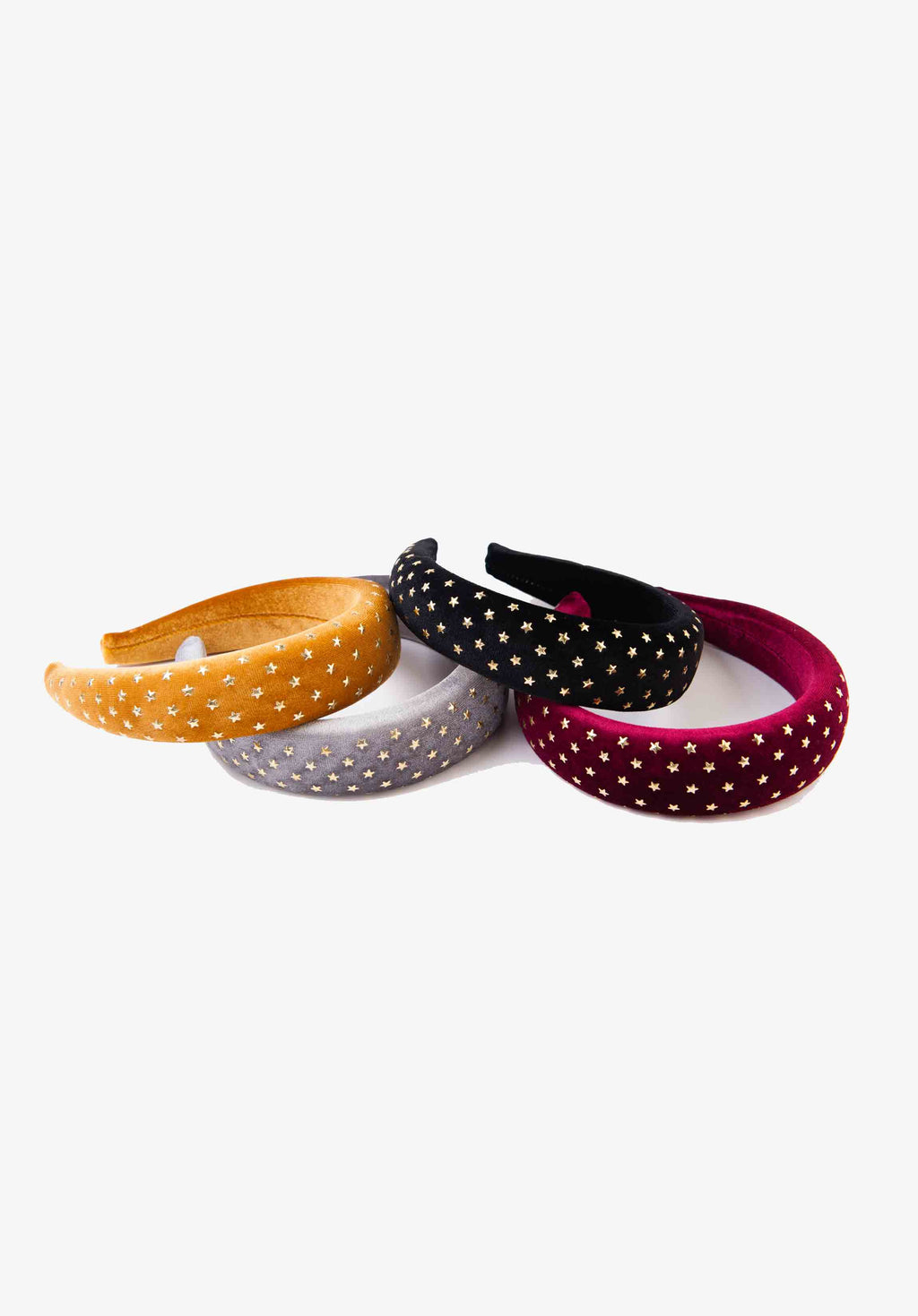 GOLD STAR PUFFY HEADBAND | BLACK