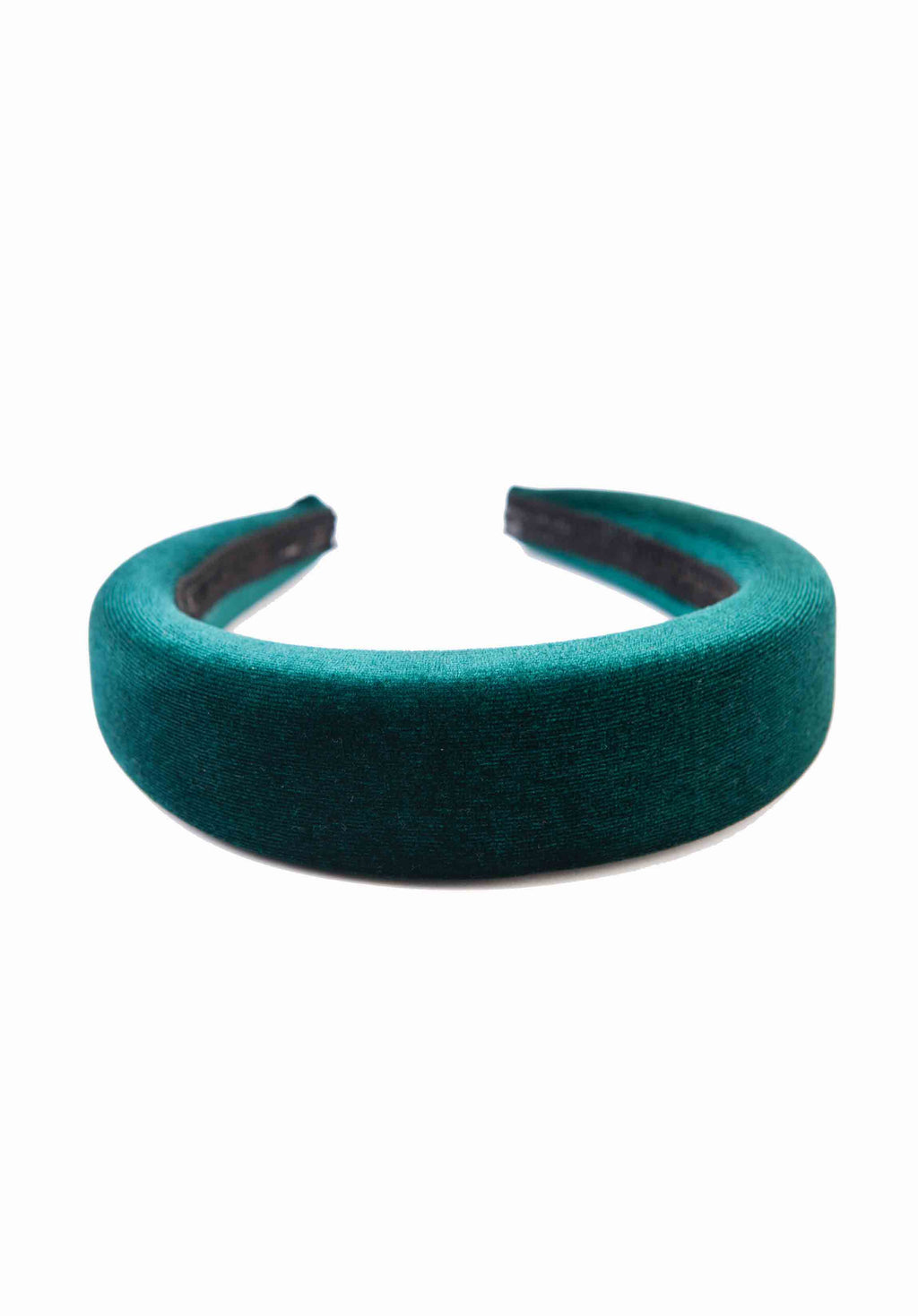 PUFFY HEADBAND | GREEN VELVET