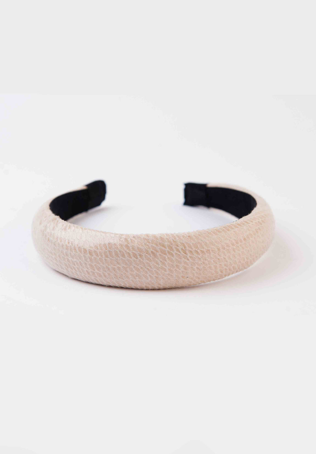 PUFF HEADBAND | OFF WHITE SNAKE