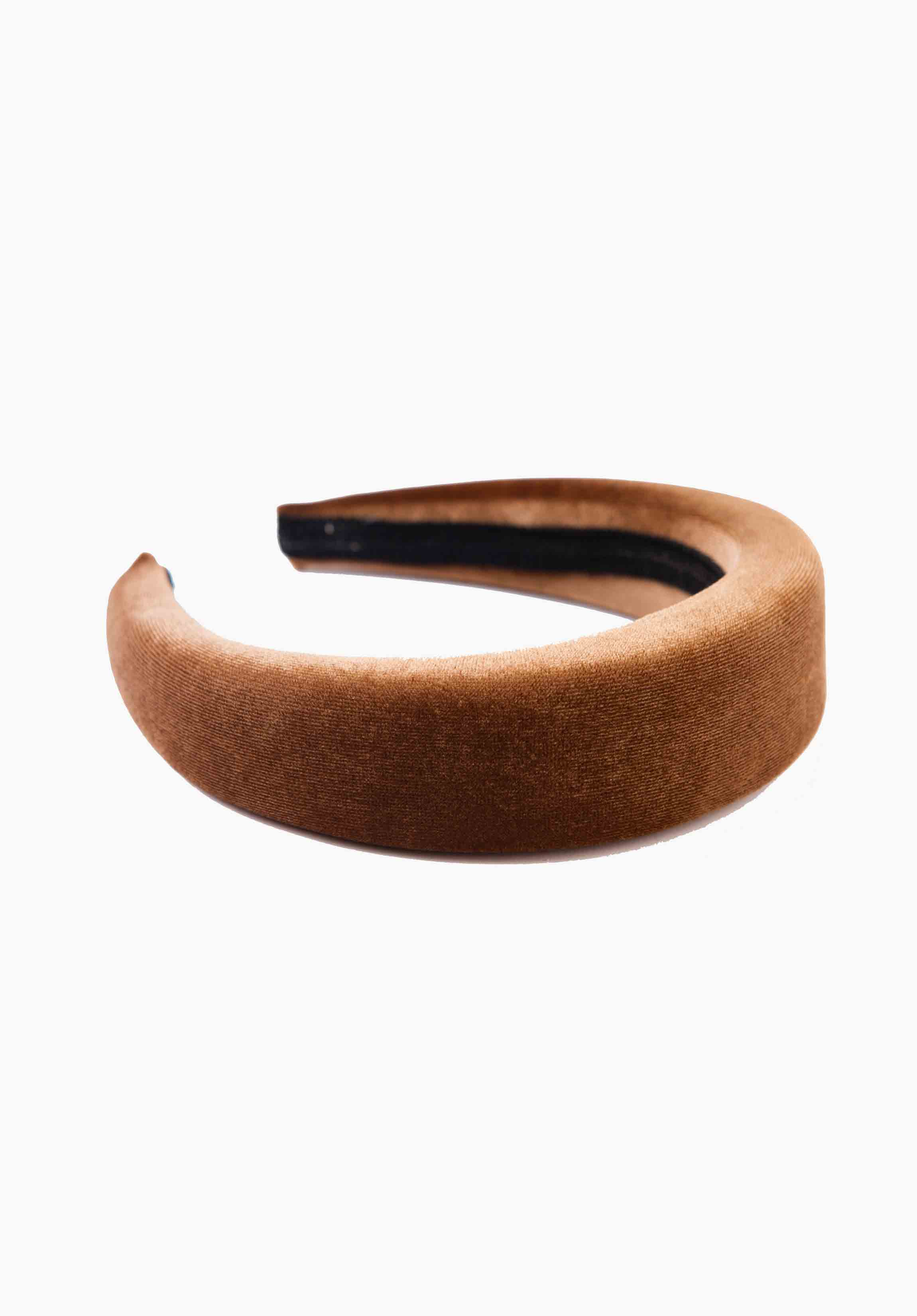 PUFFY HEADBAND | TOFFEE VELVET